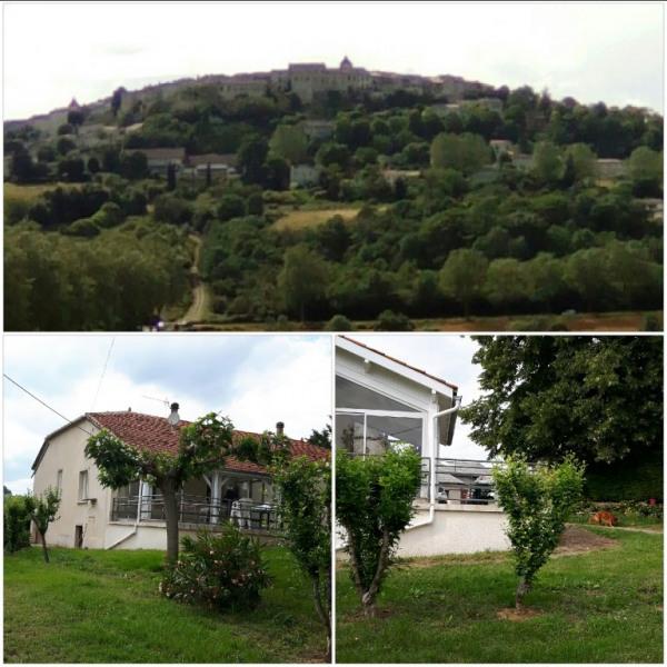 Vue sur village de Lauzerte
