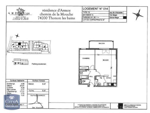 location appartement 48m thonon les bains haute savoie de particuliers et professionnels de. Black Bedroom Furniture Sets. Home Design Ideas