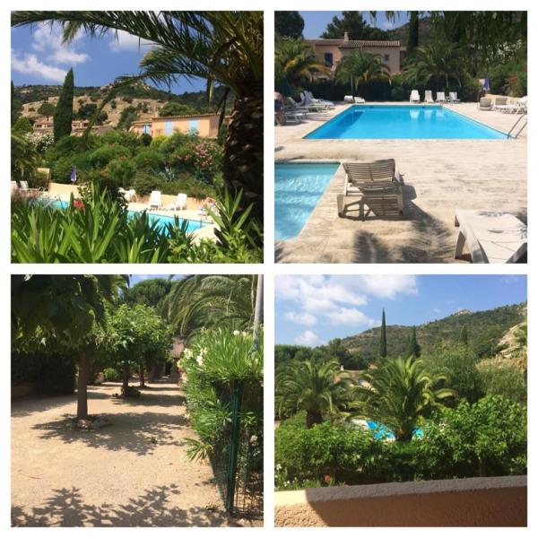 vue jardin et piscine de la résidence