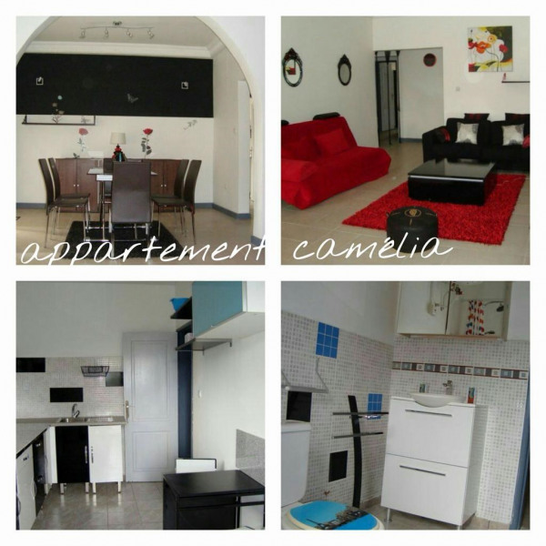 Appartement Camélia, Séjour , Cuisine et Salle d'e