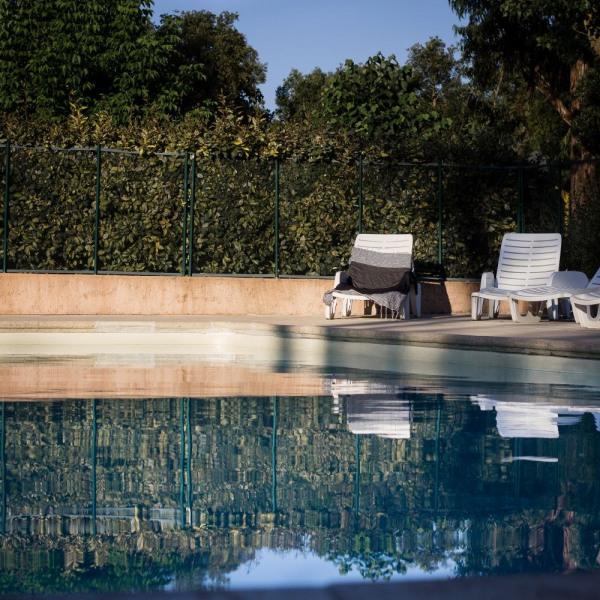 Bungalow Corsica : Le camping Santa Lucia dispose de 2 types de locations : le bungalow en bois (avec sanitaires) et ...