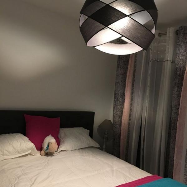 Chambre rose - grand lit et dressing