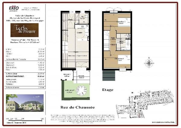 location maison 60m chartres eure et loir de particuliers et professionnels de l 39 immobilier. Black Bedroom Furniture Sets. Home Design Ideas