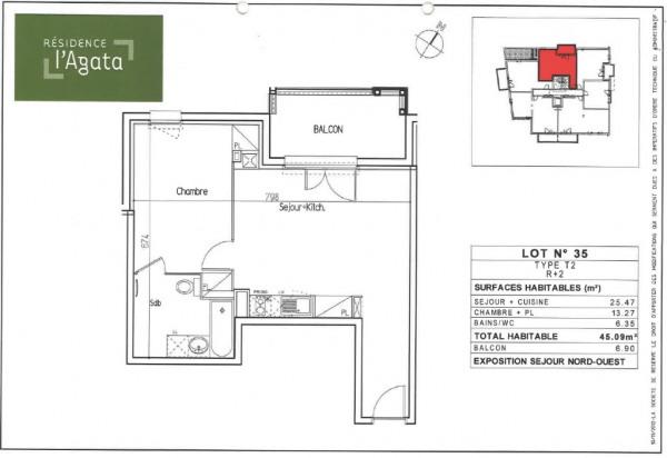 Appartement Toulouse 2 pièces 45.09 m² - Toulouse (31200)-5