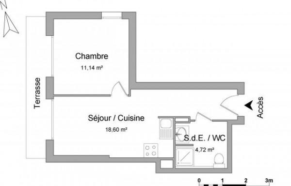 6ème arrondissement 2 pièces 34,46 m² - Marseille 6ème (13006)-8