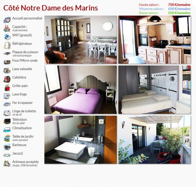 Location vacances Martigues -  Appartement - 6 personnes - Barbecue - Photo N° 1