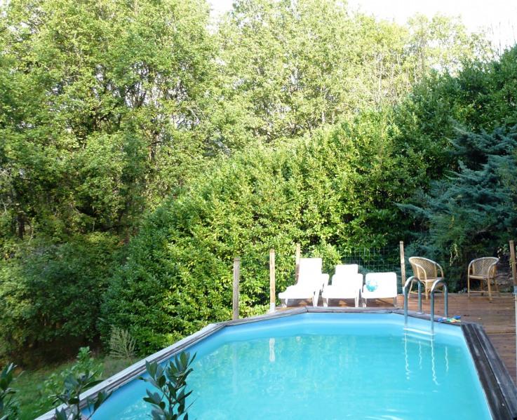 A Sarlat entourée d'arbres la piscine privative sans vis à vis