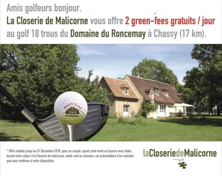 2 green-fees gratuits/jour au Golf du Domaine du Roncemay