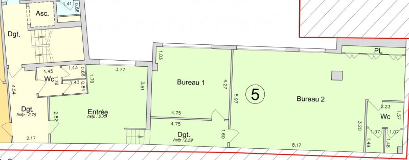 Location bureau paris 18 me paris 75 113 m r f rence n 10189005 - Bureau de poste paris 18eme ...