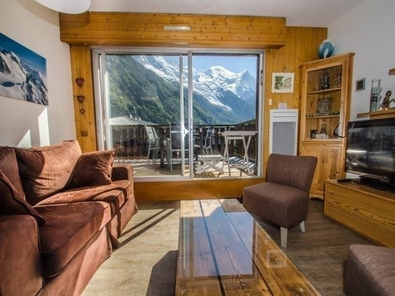 3 pièces au pied des pistes avec terrasse face au Mont Blanc