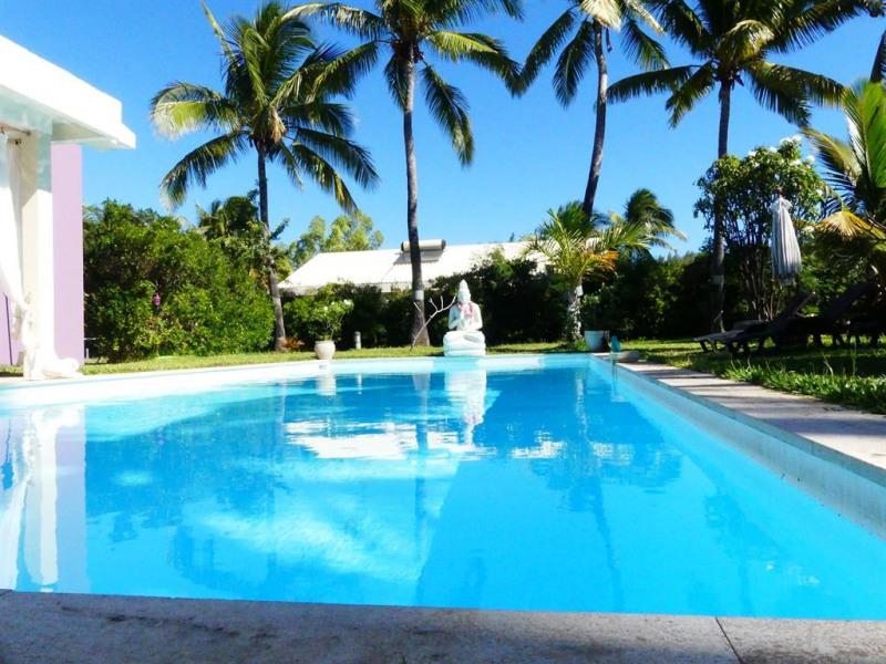 vue exterieure de la maison avec piscine  15 m x 5