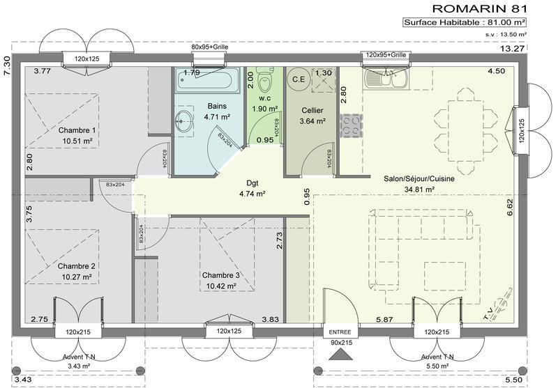 Maison  5 pièces + Terrain 1600 m² Lucbardez et Bargues (40090) par LES MAISONS LCA MONT DE MARSAN