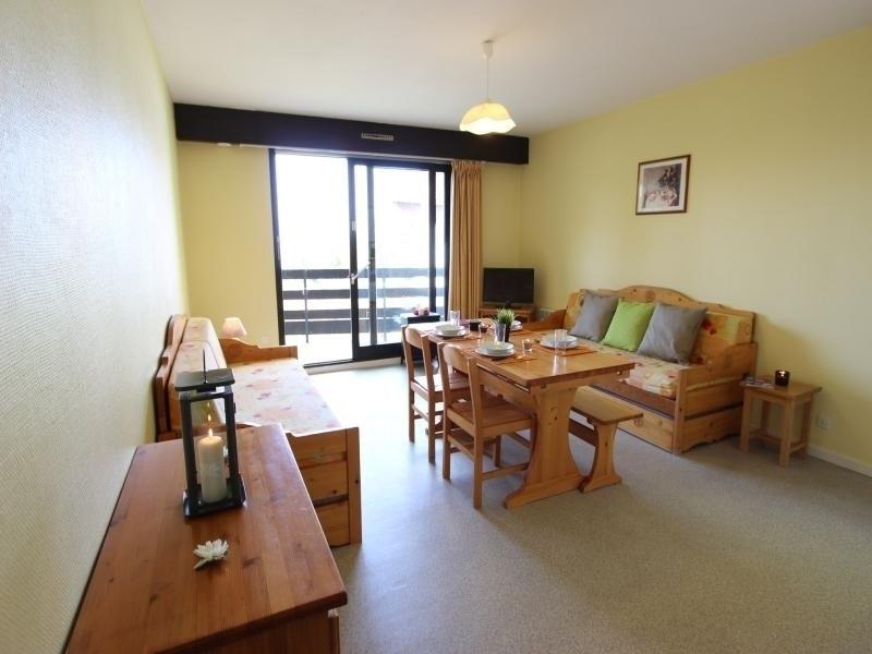Appartement 6 places avec chambre séparée, salle de bain fonctionnelle et rénovée, dans quartier calme proche pistes.
