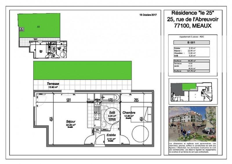 Vente Appartement 2 pièces 44,05m² Meaux