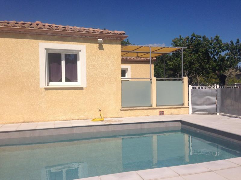 Villa de 90m2 avec  piscine privée sur les Hauteurs d'Anduze (900m du centre ville).