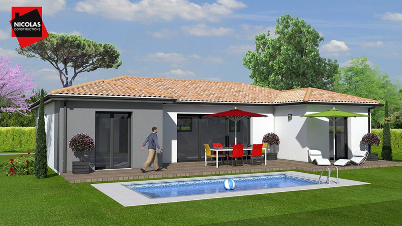 Maison  4 pièces + Terrain 1000 m² Saint-Jean-d'Illac par NICOLAS CONSTRUCTION
