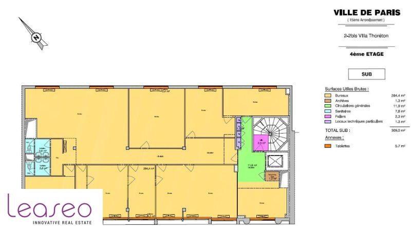 location bureau paris 15 me paris 75 1638 m r f rence n 9819sl. Black Bedroom Furniture Sets. Home Design Ideas