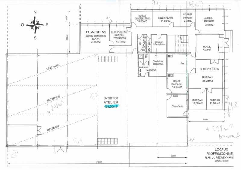 location entrep t dardilly est 69570 entrep t dardilly est de 1000 m ref 599590l. Black Bedroom Furniture Sets. Home Design Ideas