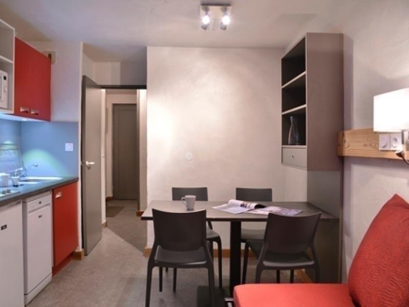 Studio avec cabine de  22m² pour 4 personnes récemment rénové, au pied des pistes