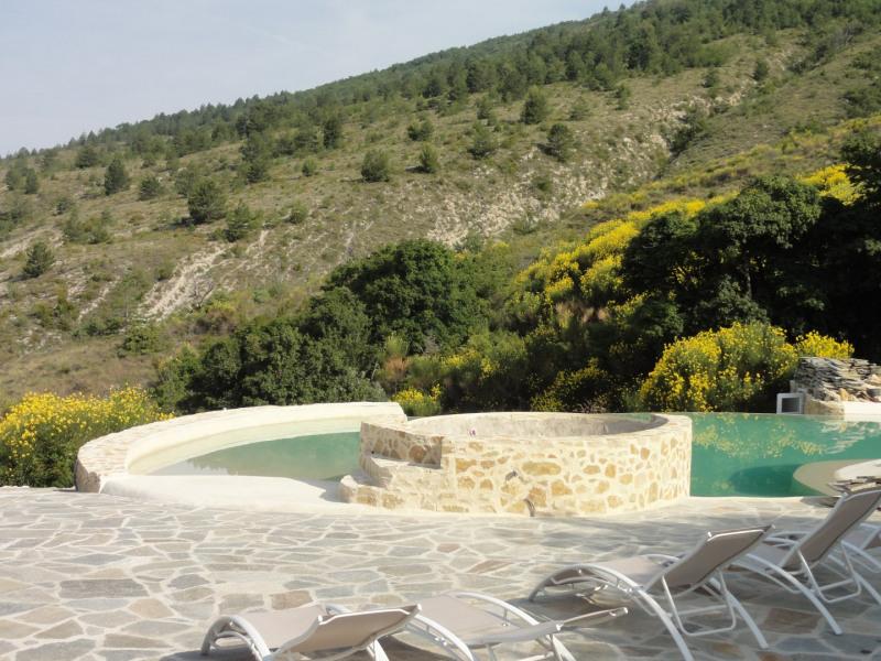 Deux maison indépendantes de 6 ou 8 places avec une grande piscine à débordement situées au coeur du parc des Baronnies.