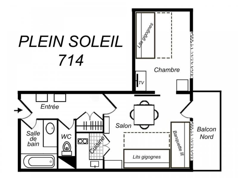 Appartement 2 pièces 4 personnes (714)