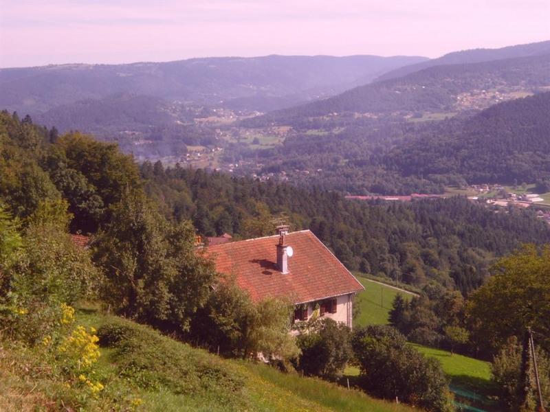 vue de la vallée de la moselotte depuis le dessus