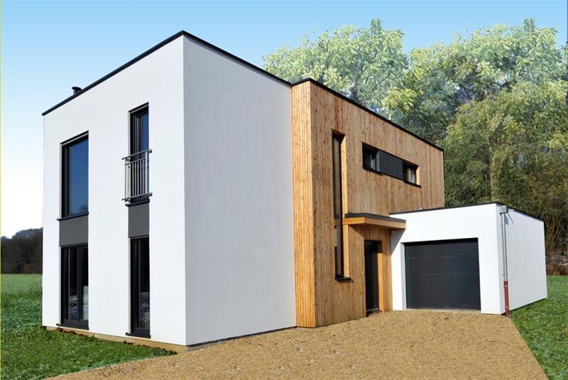 """Modèle de maison  """"Maison à ossature bois haute performance"""" à partir de 6 pièces Bas-Rhin par INNOV'HABITAT"""