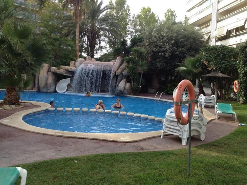 La piscine avec cascade