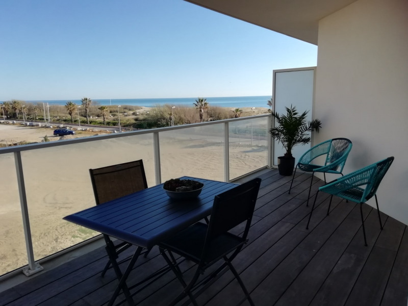 Location vacances Sainte-Marie-la-Mer -  Appartement - 4 personnes - Salon de jardin - Photo N° 1