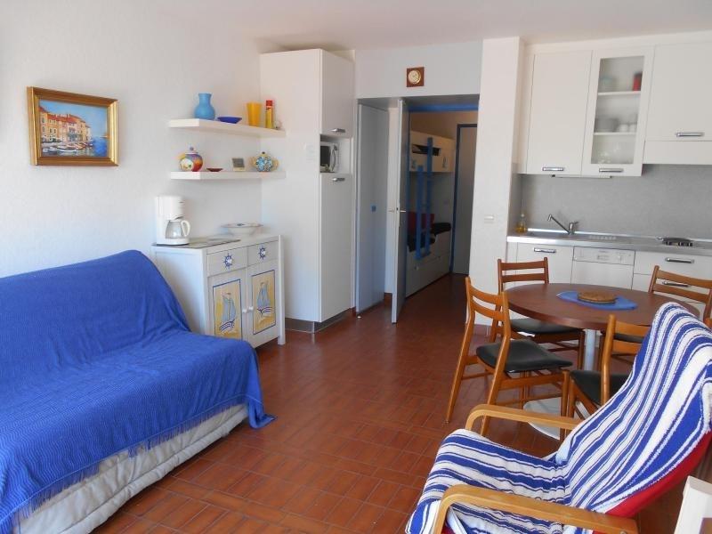 Agréable studio cabine dans résidence sur la plage