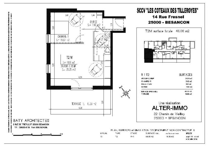 location appartement 2 pi ces besan on appartement f2 t2 2 pi ces 48 08m 569 mois. Black Bedroom Furniture Sets. Home Design Ideas