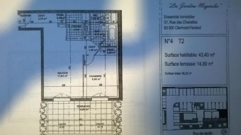 vente appartement 2 pi ces clermont ferrand appartement. Black Bedroom Furniture Sets. Home Design Ideas