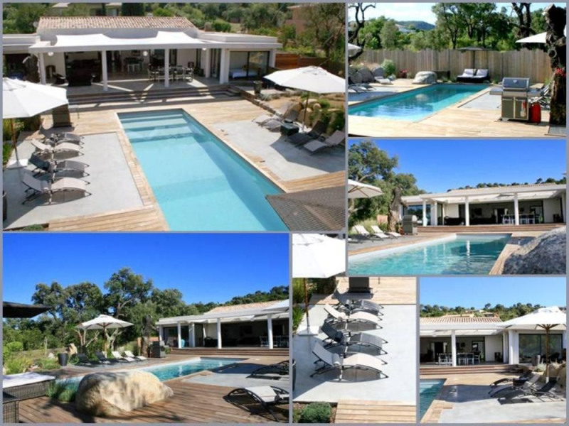 Luxueuse villa d'architecte contemporaine , terrasses bois  Piscine chauffée