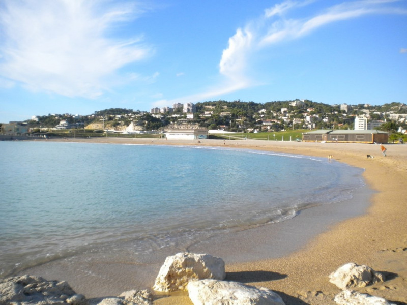 La plage à 100 mètres