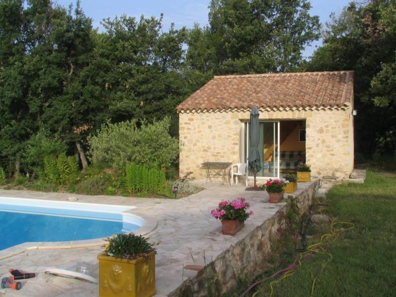 Maisonnette et piscine