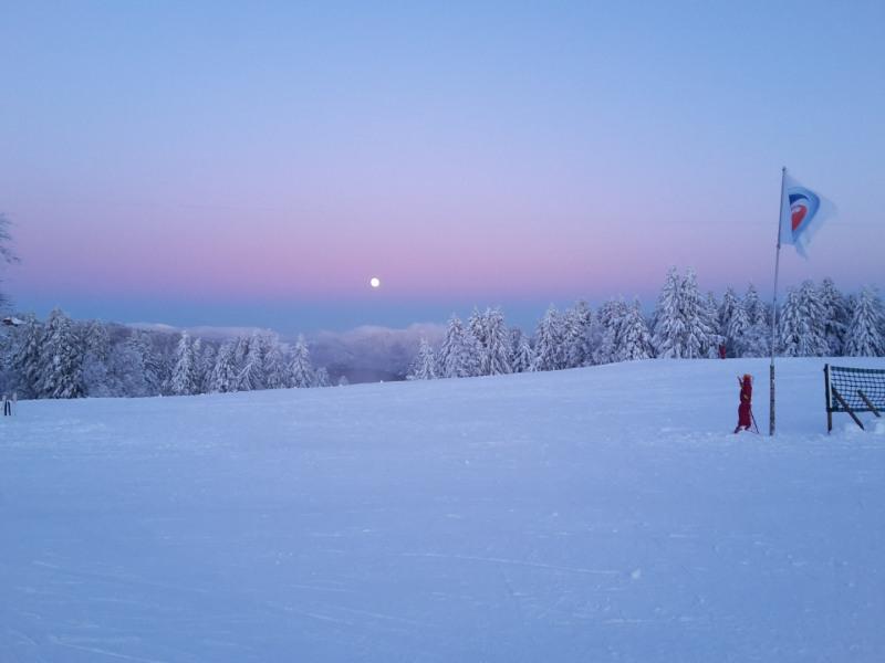 Couché de soleil Ballon d'Alsace 02/12/17