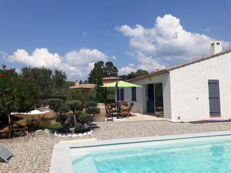 Villa récente plain pied : 100m² en Provence, Toutes commodités avec piscine sur terrain plat, clos et arboré de 1200m²