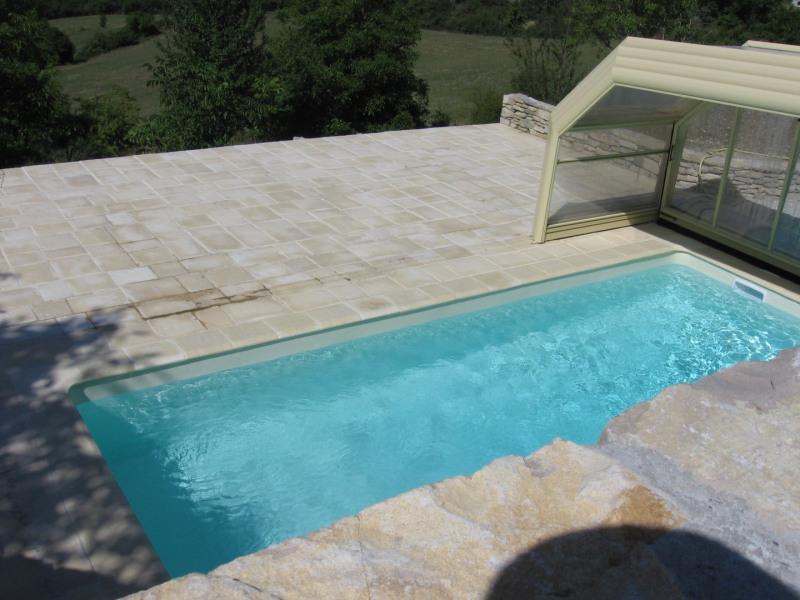 Notre piscine que nous avons le plaisir de partager avec vous