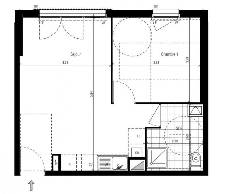 vente appartement 2 pi ces le raincy appartement f2 t2 2 pi ces 40m 184000. Black Bedroom Furniture Sets. Home Design Ideas