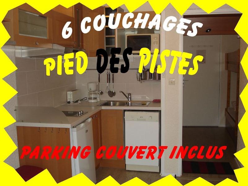 LA MONGIE 6 PL PIED DES PISTES+PARKING COUVERT  ET BALCON