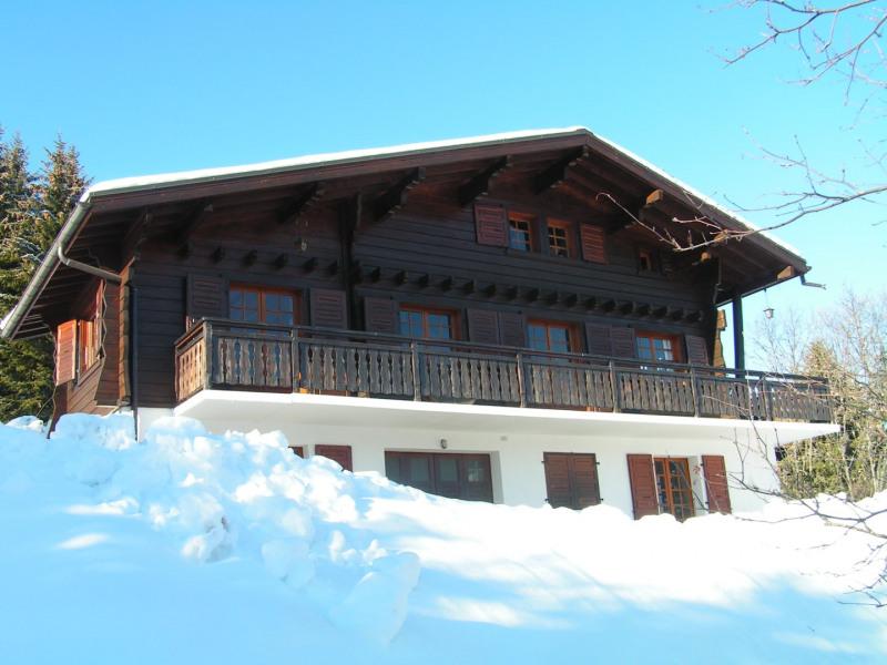 façade avant avec vue sur Mont Blanc