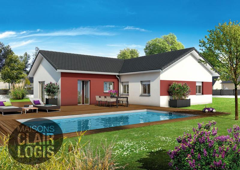 """Modèle de maison  """"Maison en L LACHAT - 100 m² - garage"""" à partir de 5 pièces Isère par MAISONS CLAIR LOGIS GRAND LYON"""