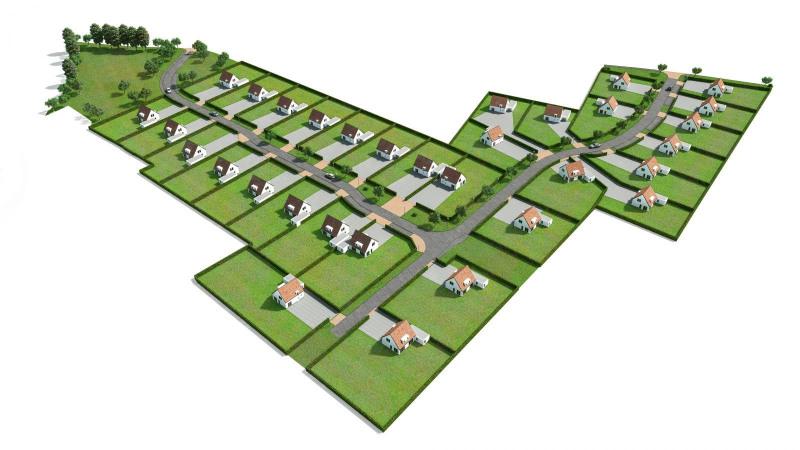 Vente terrain constructible sacquenville 845m 48500 for Combien coute un terrain constructible