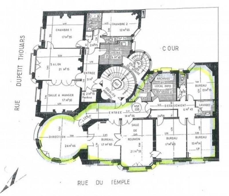 location bureau paris 3 me paris 75 221 m r f rence n. Black Bedroom Furniture Sets. Home Design Ideas