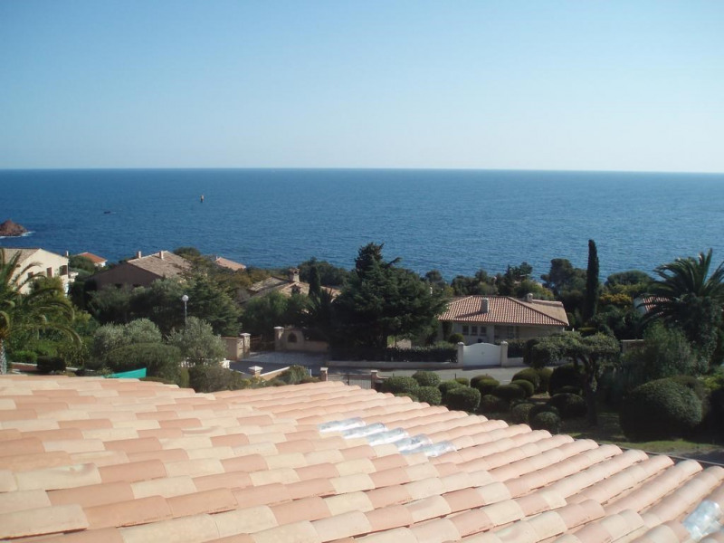 View of Mediterranean from top floor apartment