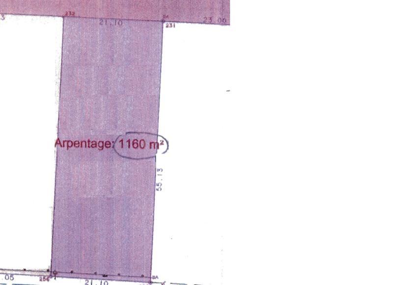 Vente Terrain constructible 1160m² Poigny-la-Forêt
