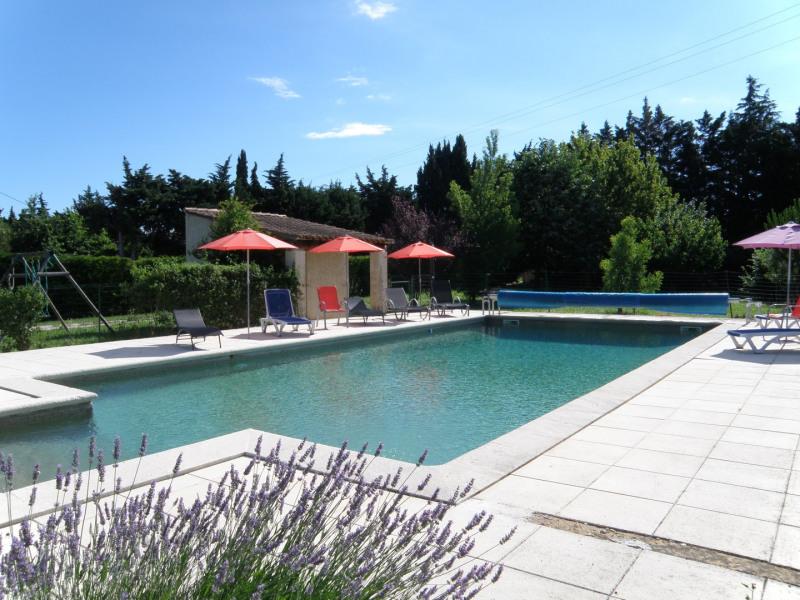 La piscine et son vestiaire  (pool house)