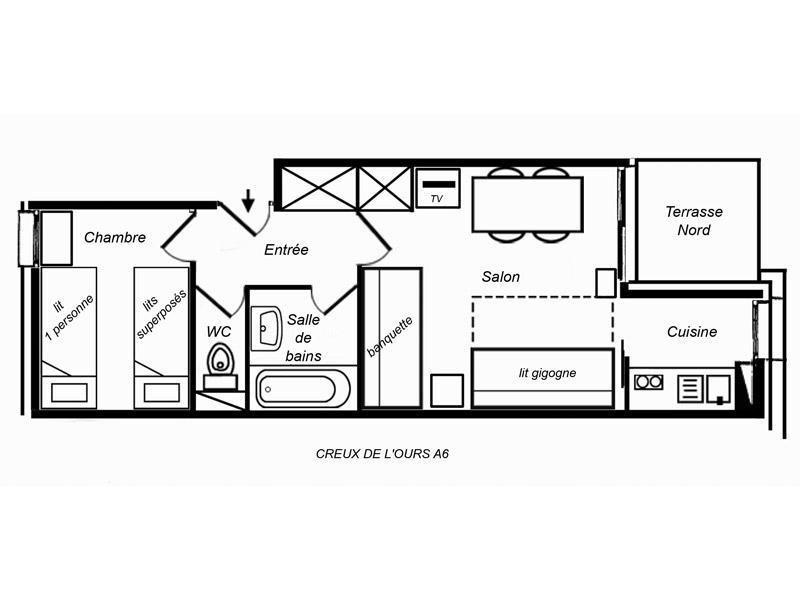 Appartement 2 pièces 4 personnes (06)