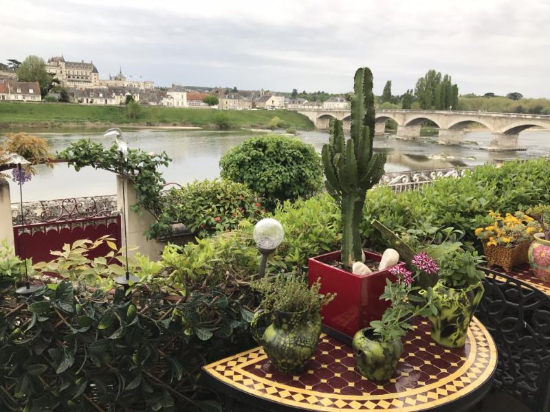 vue de la maison sur Loire et château