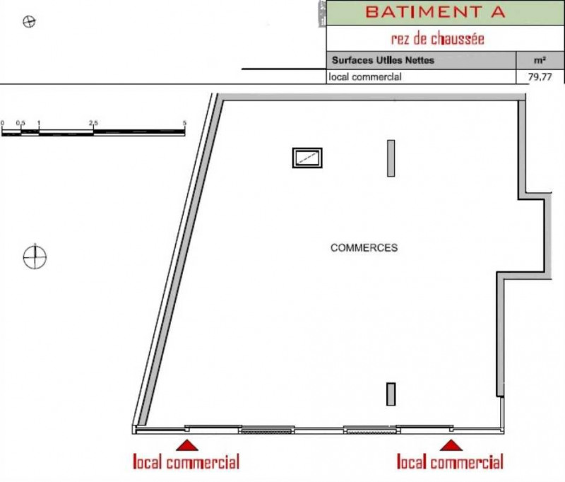 location local commercial m rignac gironde 33 80 m r f rence n 157574. Black Bedroom Furniture Sets. Home Design Ideas